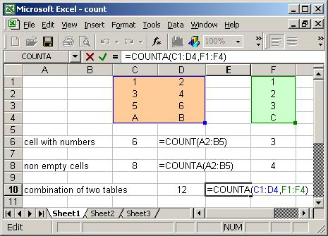 counting in excel